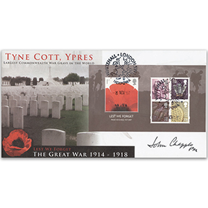 2007 Lest We Forget M/S - Ypres - Signed by Field Marshal Sir John Chapple GCB