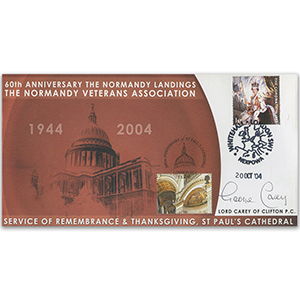 2003 Coronation 50th - Normandy Veterans Association - Signed by Lord Carey of Clifton