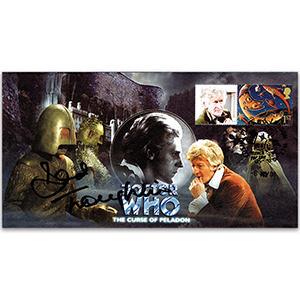 2008 Doctor Who Cover - 'The Curse of Peladon' - Signed by David Troughton
