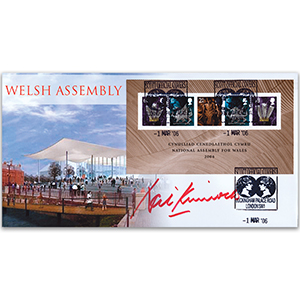 2006 Welsh Assembley M/S - Signed by Neil Kinnock