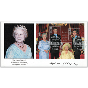 2000 Queen Mother 100th signed Andrew Motion