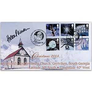2003 Christmas Stamps - St. Nicholas Road - Signed by Dame Helen Mirren