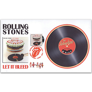 2010 Classic Album Covers - Single Stamp FDC - Rolling Stones - Let it Bleed - London SE13