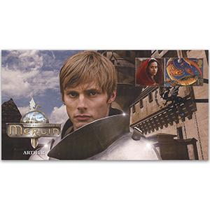 Merlin cover, Arthur single stamp