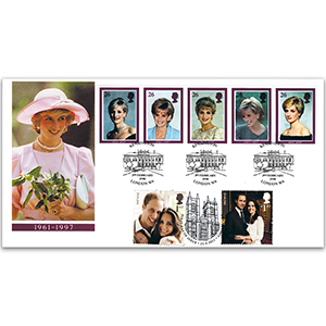 1998 Princess Diana Commemoration - Doubled 2011 Royal Wedding
