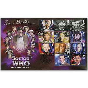 Doctor Who 50th Anniversary Stamps - Signed Tom Baker