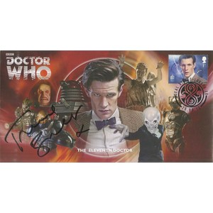 The Eleventh Doctor Who Signed  Cover by Frances Barber