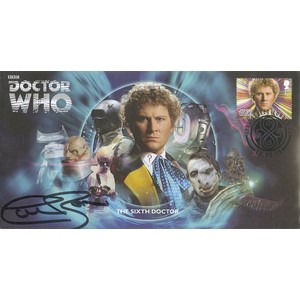 The Sixth Doctor Who Cover Signed by Colin Baker