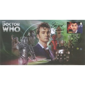 The Tenth Doctor Who Cover Signed by Bernard Cribbins
