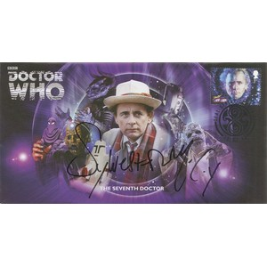 The Seventh Doctor Cover Signed by Sylvester McCoy