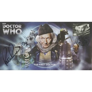 Doctor Who - The First Doctor  Cover  Signed by Peter Purves