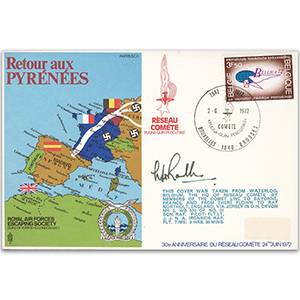 1972 RAFES Escape Over the Pyrenees - Signed by Escapee Group Captain W. Randle