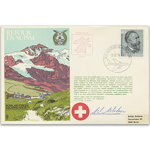 1974 RAFES Return To Switzerland - Signed Pilot
