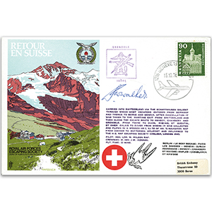 1974 RAFES Return to Switzerland - Signed by Escapee W. Walker