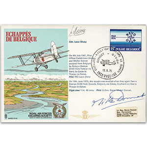 1975 RAFES Escape From Belgium - Signed by Lt. Gen. Baron Michel Donnet and One Other