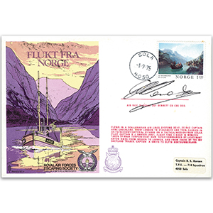 1975 RAFES Escape from Norway - Signed by AVM D. Bennett