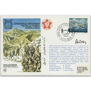 1978 RAFES Escape From ESC Yugoslavia - Signed by Pilot