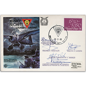 1980 RAFES Belgian Secret Army - Signed by M. R. Rooman and 4 Others