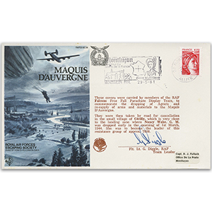 1981 RAFES Maquis D'Auvergne - Signed by Flight Lieutenant G. Diggle
