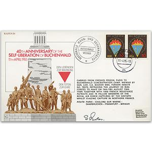 1985 RAFES Self-Liberation of Buchenald 40th - Signed by Pilot