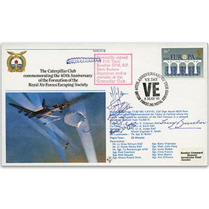 1985 Caterpillar Club, 40th Anniversary of RAFES - Signed by 6
