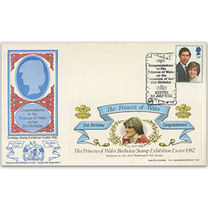 1982 Princess Diana 21st Birthday Exeter Cover