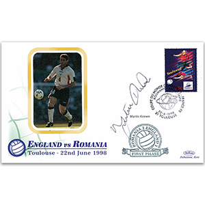 1998 World Cup 'England vs Romania' - Signed by Martin Keown