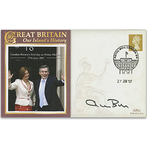 First Day as Prime Minister - Signed by Gordon Brown