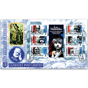 2002 Guernsey - Victor Hugo 200th: Les Miserables M/S