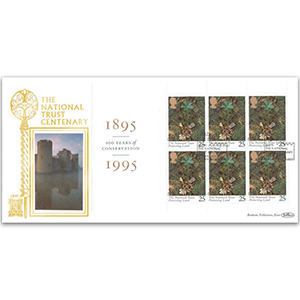 1995 National Trust Centenary GOLD 500 - PSB Pane 6 x 25p