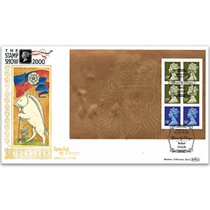 2000 The Stamp Show PSB Pane 4 x19p & 2 x 38p GOLD 500