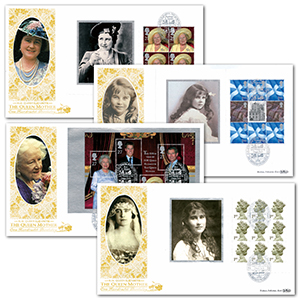2000 Queen Mother's 100th Birthday PSB GOLD 500 - Set of 4