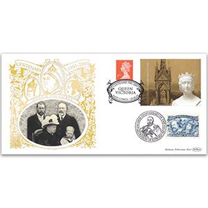 2001 Queen Victoria 100th Anniversary Label GOLD 500