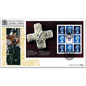 2002 HM The Queen's Golden Jubilee PSB GOLD 500 - Floral Tribute Pane
