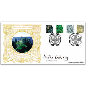 2003 Northern Ireland Pictorial Definitives GOLD 500 - Signed by Martha Kearney