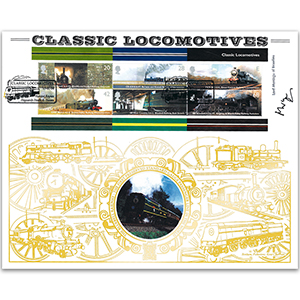 2004 Classic Locomotives M/S GOLD 500 - Signed by Lord Montagu of Beaulieu