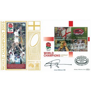2003 Rugby World Champions M/S GOLD 500 - Signed by Jonny Wilkinson CBE