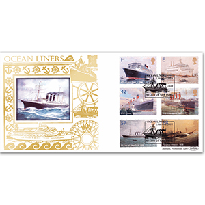 2004 Ocean Liners Stamps GOLD 500