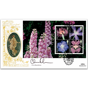 2004 Royal Horticultural Society Bicentenary PSB Pane GOLD 500 - Signed by Chris Beardshaw