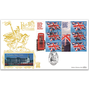 2004 'Rule Britannia' Smilers Sheet GOLD 500