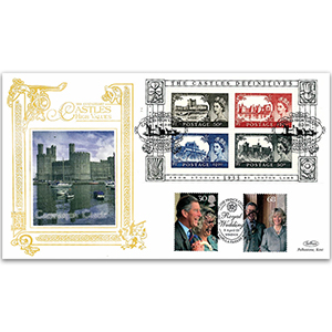 2005 Castles High Values 50th M/S GOLD 500 - Doubled for Royal Wedding