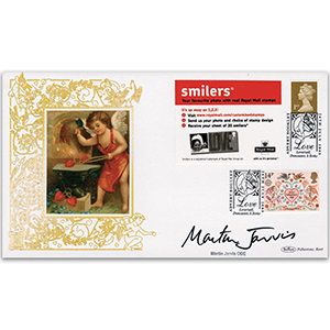 2005 Love Smilers Retail Advert GOLD 500 - Signed by Martin Jarvis OBE