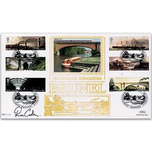 2006 Brunel 200th Stamps GOLD 500 - Signed by Ron Cook