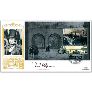 2006 Brunel PSB pane GOLD 500 - Signed by Sir William McAlpine