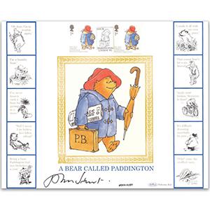 2006 Paddington Bear Smilers GOLD 500 - Signed by John Hurt