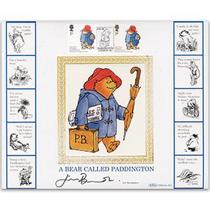 2006 Paddington Bear Smilers GOLD 500 - Signed by Jim Broadbent