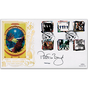 2007 Beatles Album Covers GOLD 500 - Signed by Pattie Boyd