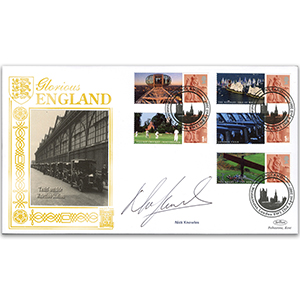 2007 Glorious England Smilers Gold 500 cover 1 Signed Nick Knowles