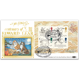 1988 Centenary of Edward Lear M/S GOLD 500