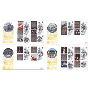2007 Wembley - Pride of England Generic Sheet GOLD 500 - Set of Four